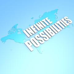 Infinite possibilities world map