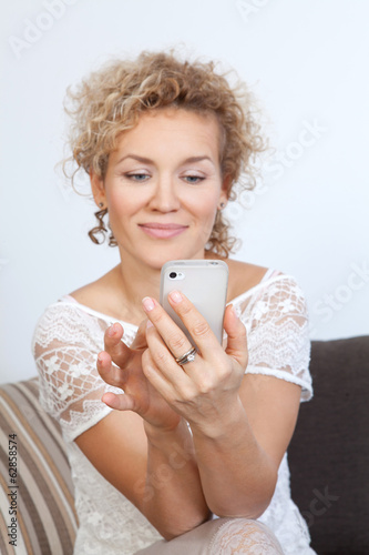 Woman with mobile phone