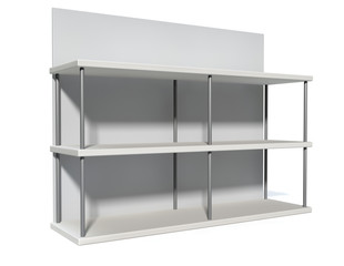Empty Freestanding Shelf