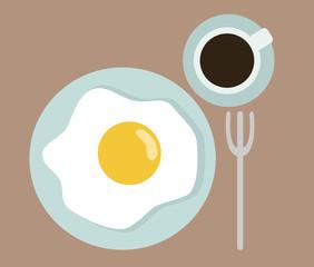 Vintage flatten breakfast set