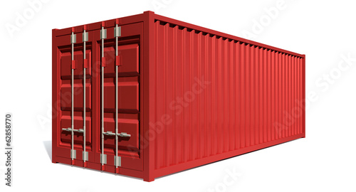 Shipping Container Red