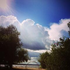 Landskape with clouds
