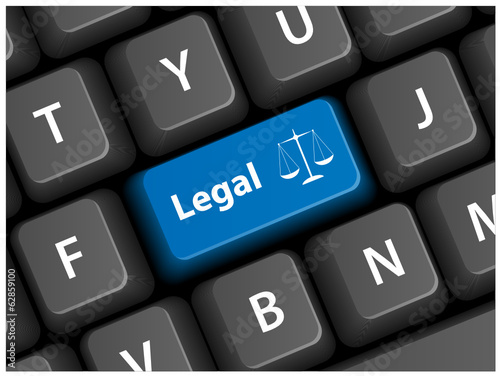 """LEGAL"" Key (justice law rights contract free advice faq button)"