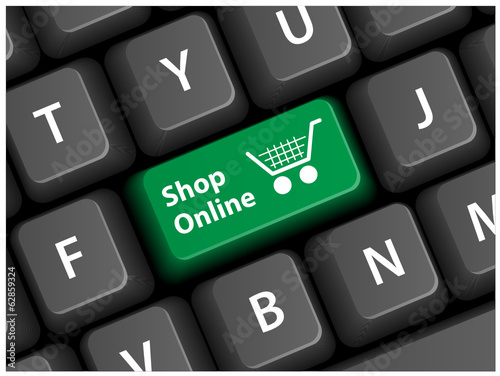 """SHOP ONLINE"" Key on Keyboard (add to cart order buy my basket)"