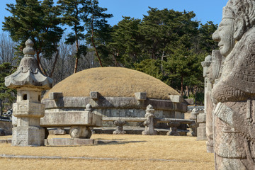 Royal tomb of Queen Munjeong at Taereung royal tomb, South Korea