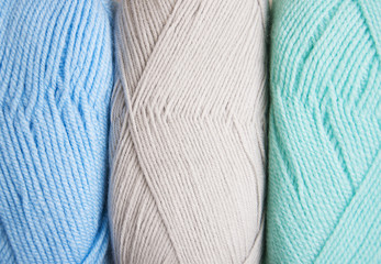 knitting yarn skeins