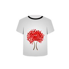 Printable tshirt graphic-Heart tree