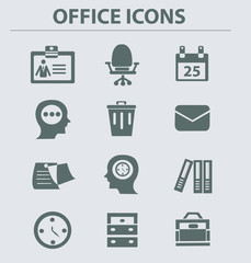 Business & office icon set,vector