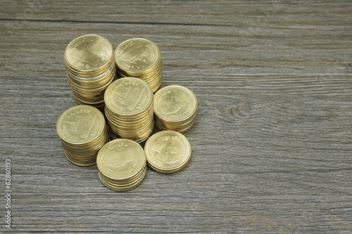 Gold coin of Thai baht