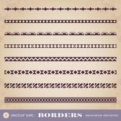 Borders decorative elements set 8