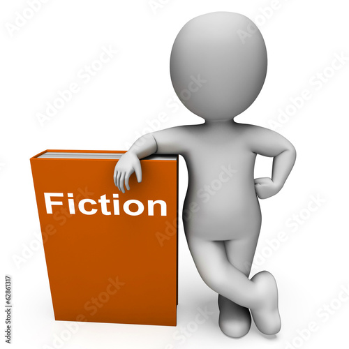 Fiction Book And Character Shows Books With Imaginary Stories