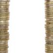 Rahmen aus Euro Münzen mit Textfreiraum
