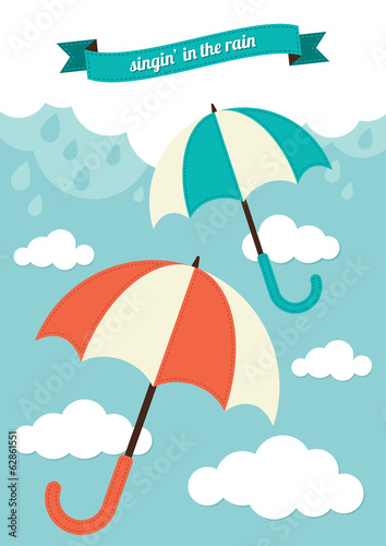 Umbrella and Rain Clouds