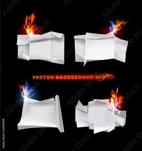 Ripped paper collection, Flame