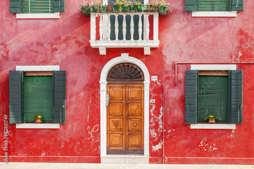Colorful house in Burano, Venice