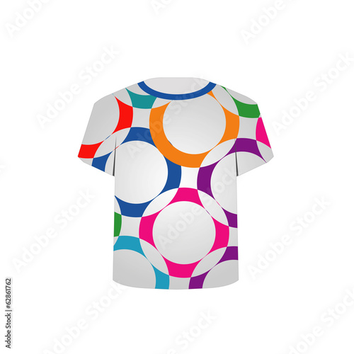 T Shirt Template-fractal rings