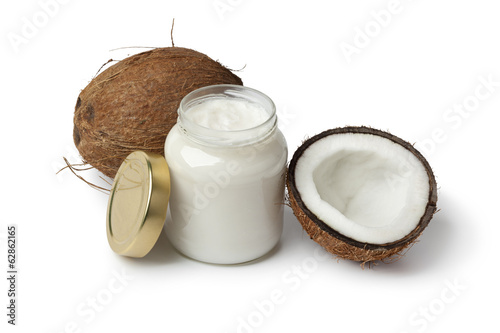 Foto op Canvas Indonesië Coconut oil and fresh coconut