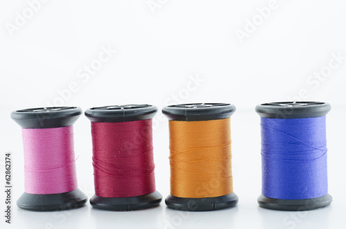 Group of colorful of thread means love