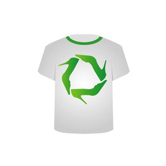 T Shirt Template- Recycle shoes