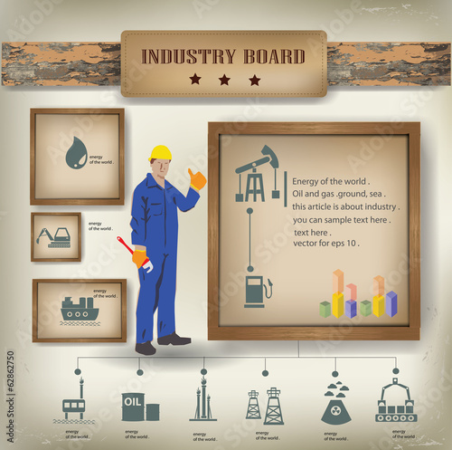 Industry background,info graphics,vector