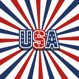 USA vector stardust patriotic background poster
