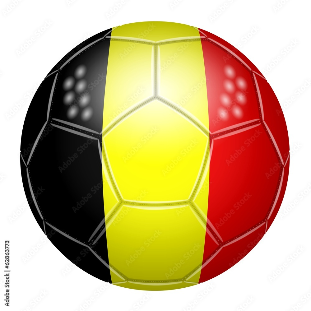ballon de football aux couleurs de la belgique wall sticker wall stickers. Black Bedroom Furniture Sets. Home Design Ideas