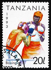 Postage stamp Tanzania 1992 Boxing, Sport