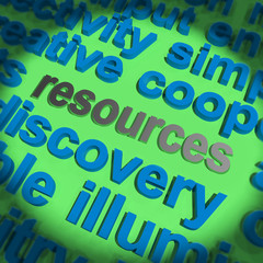 Resources Word Shows Funds Assets And Supplies