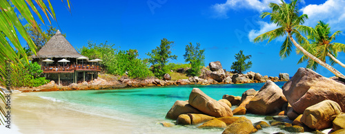 Papiers peints Ile luxury tropical holidays - Seychelles islands