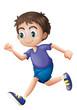 A young gentleman running