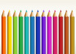 Colorful long pencils