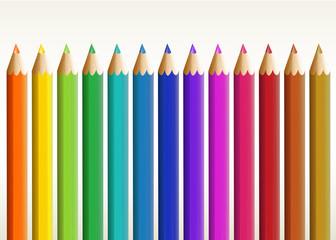Colorful long pencils