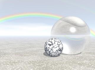 Rainbow over Sphere