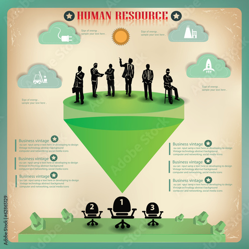 Human resource,business concept,info graphics