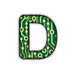 Circuit Board Letter D