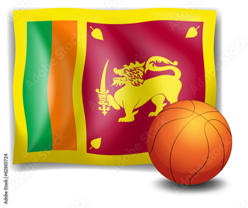 A ball with the flag of Sri Lanka