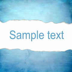 Abstract blue background with blank space for text