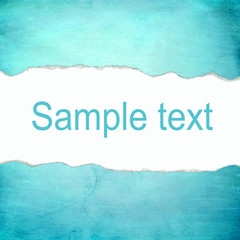 Abstract cyan background with blank space for text