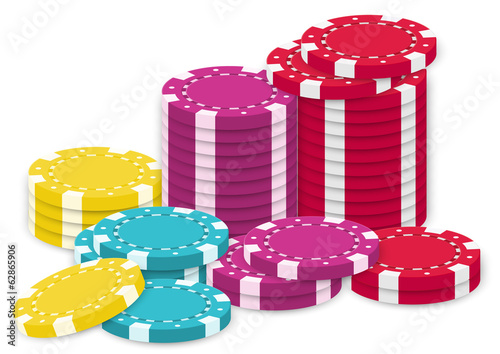 A collection of poker chips