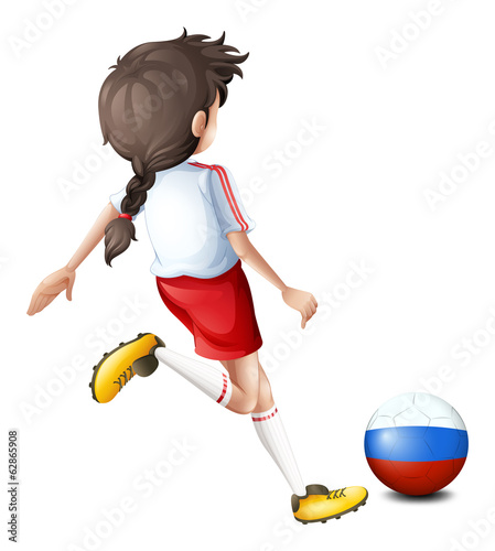A soccer player from Russia