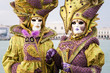 Carnival of Venice, beautiful masks at St. George island with Ma