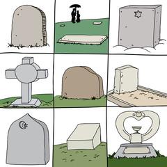 Series of Grave Stones