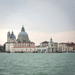 The Basilica Santa Maria della Salute and Grand canal. Venice, I