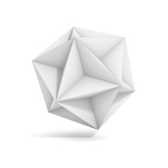 abstract geometric 3d object, polyhedron variations set