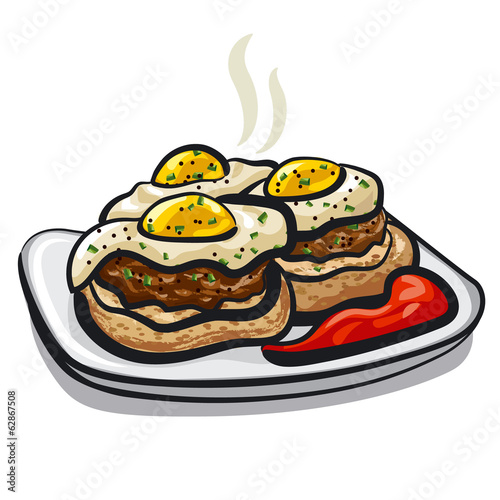 cutlets with eggs