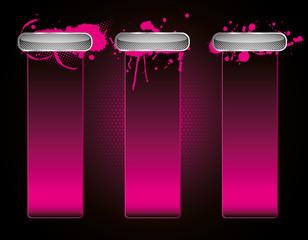 Pink Grunge elements