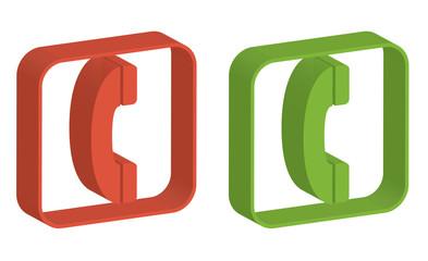 3D phone symbols