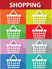 Shopping symbol,vector