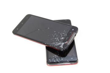 故障したスマートフォン