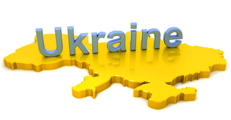 3D Map of Ukraine